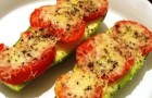 Кабачки, запеченные с помидорами в аэрогриле