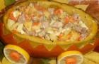 Картофель с тыквой, тушенные в сливках в аэрогриле