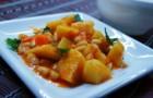 Картофель, тушенный с фасолью в аэрогриле
