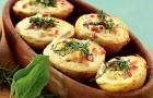 Картофель, запеченный с яйцами в аэрогриле
