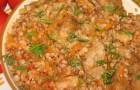 Каша гречневая с куриным мясом в аэрогриле