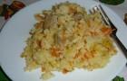 Каша рисовая с морковью в аэрогриле