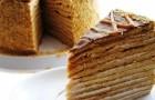 Кофейно-медовый торт в мультиварке