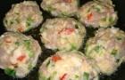 Котлеты куриные с овощами в пароварке