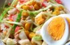 Крабовые палочки с овощами в пароварке