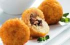 Крокеты из грибов с макаронами в пароварке