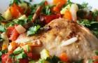 Кролик с овощами в пароварке