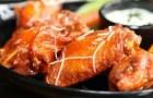 Куриные крылышки с овощами и сливой в скороварке