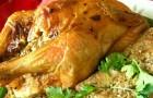 Курица, фаршированная киви и сельдереем в скороварке