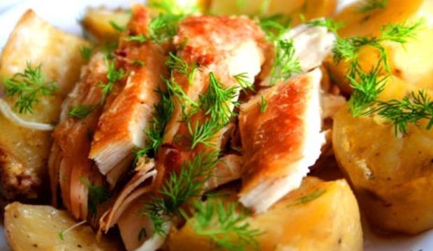 Курица по-татарски в скороварке