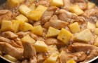 Курица с ананасами в скороварке