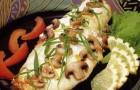 Палтус с грибами в пароварке