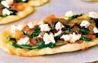 Пицца с брынзой в аэрогриле