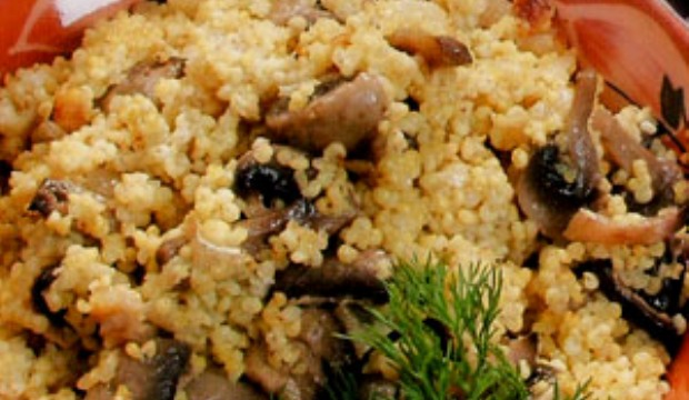 Пшеничная каша с грибами