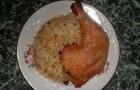 Рис с куриными окороками в мультиварке