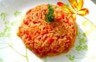 Рис с помидорами в пароварке