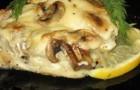 Рыба, запеченная с грибами в аэрогриле