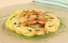 Рыба, запеченная в сметанном соусе в аэрогриле