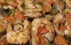 Щука с овощами в скороварке