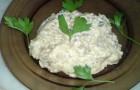 Салат-закуска из баклажан с грибами в пароварке