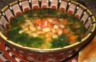 Суп фасолевый по-болгарски в аэрогриле