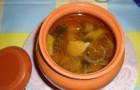 Суп-харчо в горшочках в аэрогриле