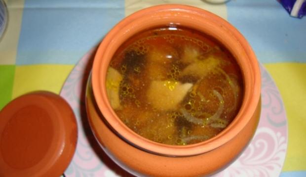 Рецепт суп в горшочках с фото