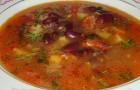 Суп из филе индейки с фасолью и шпинатом в скороварке