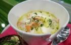 Суп из консервированного лосося в скороварке