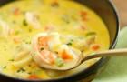 Суп из морского языка с кукурузой в скороварке
