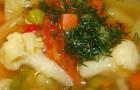 Суп из овощей с картофелем в скороварке