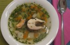 Суп из щуки с морской капустой в скороварке