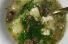 Суп из сушеных грибов с яйцом в скороварке