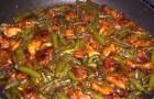 Суп из свинины со стручковой фасолью в скороварке