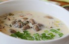 Суп из вешенок с кабачками в скороварке