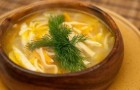 Суп-лапша грибная в арогриле