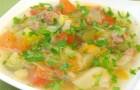 Суп овощной в пароварке
