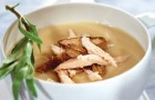 Суп-пюре из курицы и лука в скороварке