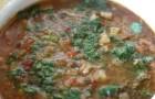Суп с баклажанами и зеленым луком в скороварке