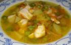 Суп с зеленым горошком в скороварке