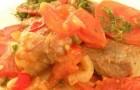 Свиной окорок с помидорами в скороварке