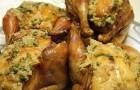 Цыпленок, фаршированный брынзой в аэрогриле