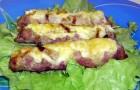 Трубочки из говядины с сыром в пароварке