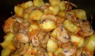 Тушеная картошка с шампиньонами в мультиварке