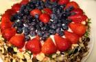 Ягодный торт в пароварке