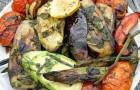 Закуска из жареных овощей с брынзой в пароварке