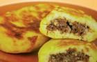 Галки картофельные с грибами в пароварке