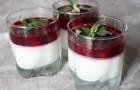 Йогуртово-черничное желе