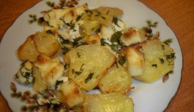 Картофель с адыгейским сыром и специями