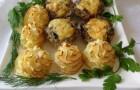 Картофельное пюре с мясным фаршем и фетой